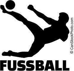 futball játékos, noha, német, cím