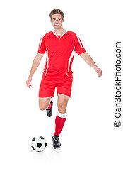 futball játékos, rúgás, labdarúgás