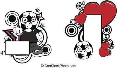 futball, kölyök, karikatúra, copyspace5