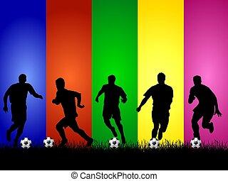 futball, körvonal, háttér