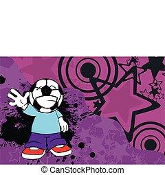 futball, karikatúra, background9, kölyök