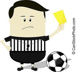 futball, kiállítás, játékvezető, sárga kártya