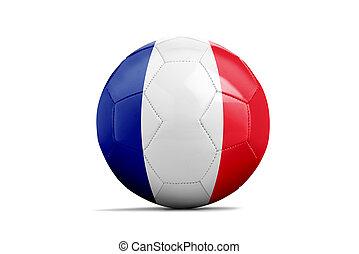 futball labda, noha, brigád, zászlók, labdarúgás, brazília, 2014., csoport, kelet, francia