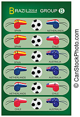 futball, lovagi torna, közül, brazília, 2014, csoport, b betű