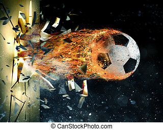 futball, meteor, erő