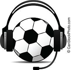 futball, podcast, vektor, labdarúgás
