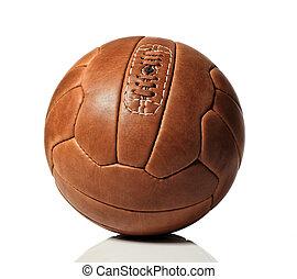futball, retro, labda