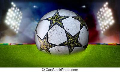 futball, stadion, háttér