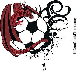 futball, tatto, tshirt5, sárkány