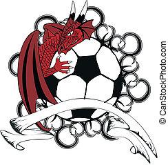 futball, tattotshirt3, középkori, sárkány