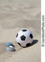 futball, tengerpart