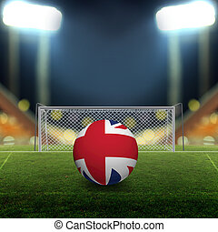 futball terep, noha, fényes, reflektorfény