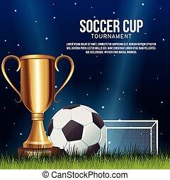futball, transzparens, csésze