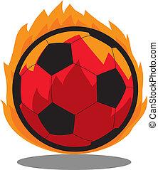 futball, transzparens, labda