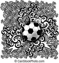 futball, vektor, elvont