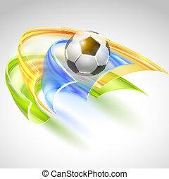 futball, vektor, tervezés