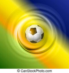 futball, vektor, tervezés, kreatív