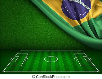 futball, világbajnokság, alatt, brazília, fogalom