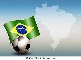 futball, világbajnokság, alatt, brazília