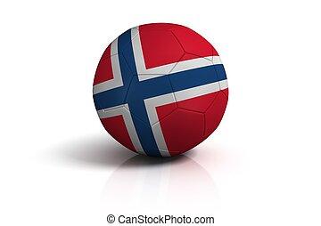 futball, white labda, norvégia, háttér
