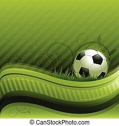 futball, zöld háttér