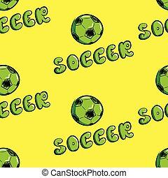 futball, zöld, seamless, struktúra