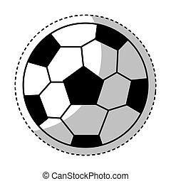 futbol, aislado, pelota, icono