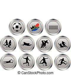 futbol, botones