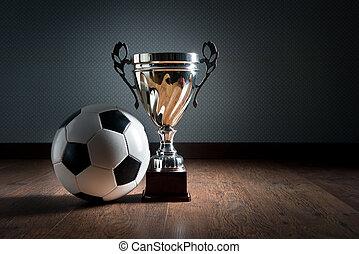 futbol, campeonato, taza
