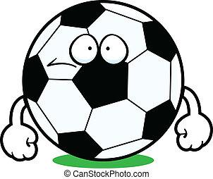 futbol, caricatura, Pelota, triste