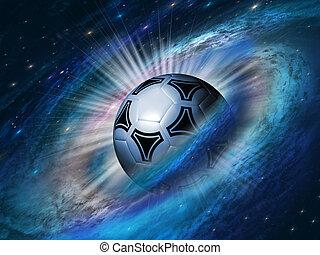 futbol, cosmos, pelota, plano de fondo