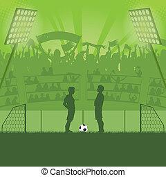 futbol, estadio