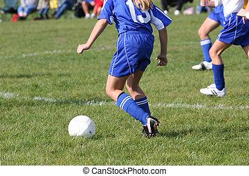 futbol, juego, en acción, 8