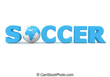 futbol, mundo, azul