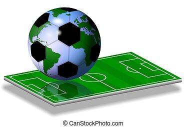 futbol, mundo, juego