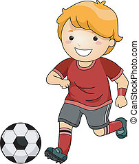 futbol, niño