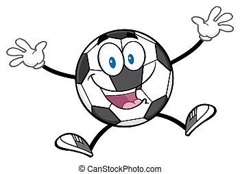 futbol, pelota dar un salto, feliz