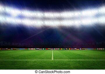futbolowa smoła, z, światowa filiżanka, bandery