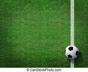 futbolowe pole, piłka nożna, trawa, stadion