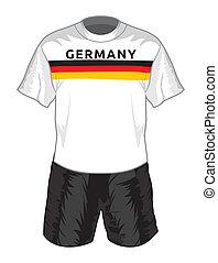 futbolowy mundur