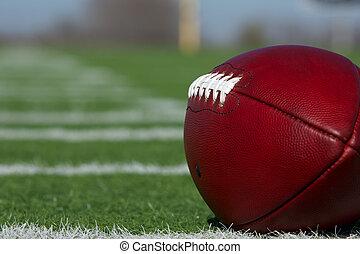 futebol americano, ao longo, hashmarks
