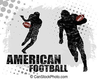 futebol americano, cartaz