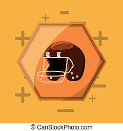 futebol americano, desenho