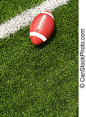 futebol americano, ligado, a, campo