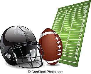 futebol americano, projete elementos