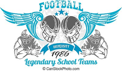 futebol americano, -, vetorial, ilustração, para, t-shirt