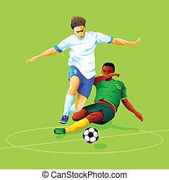 futebol, ataque