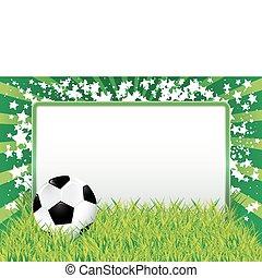 futebol, bandeira, bola