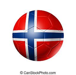 futebol, bandeira, bola, noruega, futebol