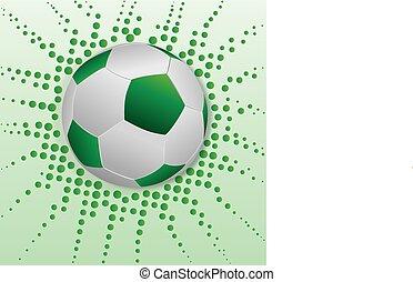 futebol, bola verde